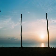 Ceroh Tanoh (fuadabd) Tags: pentaconsixtl fujireala100 mediumformat 120film filmphotography colorfilmphotography ishootfilm filmisnotdead morning sunrise amazingterengganu dungun beach tree silhouette fuadabdullah