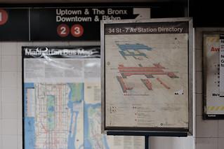 Signage - 34th Street IRT 1/2/3 Station