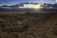Dwindling Light (ihikesandiego) Tags: sunset anza borrego desert fonts point badlands