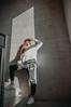 MRGRT-10 (qauqe) Tags: nike air force 1 af1 street urban jjstreet dance company hip hop hiphop house nikon d40 white locks portrait woman girl teenager tallinn estonia elevator stairway photography black bw graffiti stretshopone classics camo cityscape skyscraper