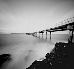 Hunterston Pier (wheehamx) Tags: paper negative squishy cam hunterston pier wide angle long exposure pinhole