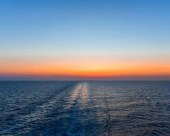 Mediterranean Sea Sunset (Daveyal_photostream) Tags: sunset sunsetting sunlight sunglasses sun august nikon nikor nature vacation travel greece trail pastelcolors beautiful beauty d600 water waterscape sky wake ripples trails horizon dream adream amazingsunset sea ocean