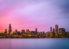 Loyola Chicago- Final Four (abso847) Tags: chicago skyline adler planitarium dusk colorful longexposure loyola 2018 final four