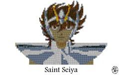 Seiya_mosaïque (_Uruk_) Tags: lego seiya saintseiya legosaintseiya pegasus cabaleros knight chevaliers zodiaque legomosaïc