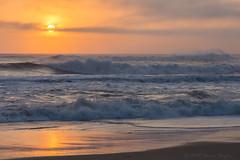 Bodie Island Sunrise (Bruce Bugbee) Tags: ocean sunrise bodieisland outerbanks northcarolina waves sun water beach sand reflection usa atlantic sky orange clouds nikond7200