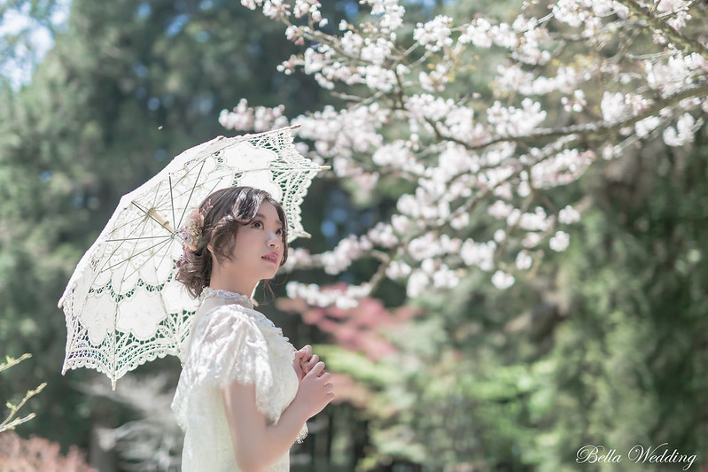 嘉義新秘,新秘,阿里山唯美櫻花婚紗,清透妝感,韓系典雅造型