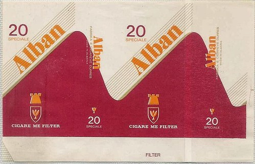 "CIGARE ALBAN. FABRIKA E CIGAREVE ""TELAT NOGA"", DURRES. MADE IN ALBANIA."