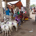 A flock of painted goats at the livestock market, Woqooyi Galbeed region, Hargeisa, Somaliland