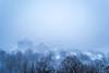 Mont Royal (ChabelaFoto) Tags: town snow heurebleue bluehour winter hiver montreal quebec montroyal tempete storm city montagne mountain rural urbain paysage landscape nuit soir night bleu blue