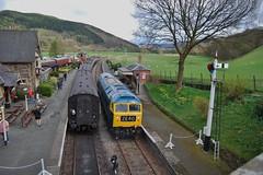 Carrog 220418 - DSC_0364 (Leslie Platt) Tags: exposureadjusted straightened denbighshire llangollenrailway runninground carrogstation d1566 crewebuilt