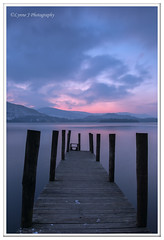 ABC_9915 -explored (Lynne J Photography) Tags: lakedistrict derwentwater bluehour longexposures jetty ashnessjetty water rocks lonetree gressmere mountains hills snowcappedpeaks sunset