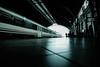 Commuter area (Sonia .) Tags: monochrome train station trainstation roof commuter lines pov perspective nikon nikonphotography nikond3300 tokina