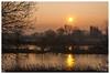 Le soleil se lève sur la Moselle (Pascale_seg) Tags: paysage landscape sun soleil sunrising leverdesoleil tree reflets reflection moselle lorraine france nikon orange morning matin aurore aube tôt