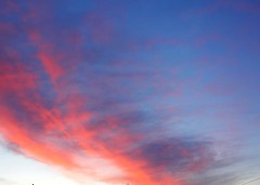 """Red sunrise on St Paddy's Day (Mike and Dee Brown) Tags: sunrise clouds fiery """"st paddy's"""" atmosphere landscape red white blue"""