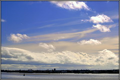 Big sky (* RICHARD M (Over 7 MILLION VIEWS)) Tags: scapes sky clouds birkenhead rivermersey liverpool merseyside england greatbritain britain unitedkingdom uk britishisles water river spring springtime march meteorology thewirral wirralpeninsula ports seaports