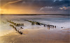 Buhne am Strand von Rantum (He Ro. - Off for a while -) Tags: 2016 sylt autumn rantum groyne buhne wasser meer langzeitbelichtung longexposure germany norddeutschland northgermany landscape seascape beach island insel nordsee northsea sunset sonnenuntergang wetter sand strand colourful highcontrast