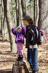 Walking at Mirror Lake - 7 (Keppyslinger) Tags: wisconsin nature mirrorlake woods family tree walkingwithdad amy daughter