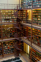 Cuypers Library spiral staircase (Sparky the Neon Cat) Tags: europe netherlands north holland amsterdam rijksmuseum museum art gallery cuypers library reading room book shelf spiral staircase