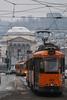 13! (sinetempore) Tags: 13 tram torino turin street chiesadellagranmadre gtt neve snow freddo cold