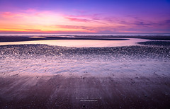 a colorful sunset on the northern beach (ylemort) Tags: nature beach sea sunset sand sky landscape water outdoors coastline summer blue scenics nopeople beautyinnature dusk reflection sunlight cloudsky sun everypixel canon canon5dmkiv koksijde kust