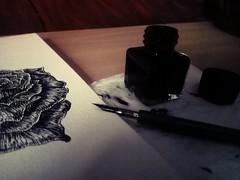 Ink (Mélyna1349) Tags: ink encre dark noir black art artist draw drawing dessin artwork artworkers