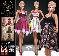Alus49 - I'm That PinUp - VENDOR (ArisArisB&W - Ariadna Garrigus & Ayrton Radikal) Tags: pin up pinup retro vintage 50s 60s sexy dress mesh fitted maitreya slink lace flower daisy dots promotion promo boho hourglass damask heart ebody tonic curvy