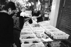 Fish Market Old City Akko Acre (Ilya.Bur) Tags: fish market old city akko acre nicca 3s color skopar 35mm f25 neopan acros 200 caffenolcl film bw analog monochrome homemadesoup seafood