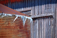 windcicles (David Sebben) Tags: wind icicles cold rusty grain bin mercer illinois barn abandoned