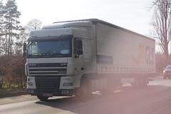 DAF XF SC E5 105.410 FT - Particular België (Celik Pictures) Tags: moving in action truck wheels turning spottedintessenderlo belgië gls parcel logistics express nv drogenbos particular