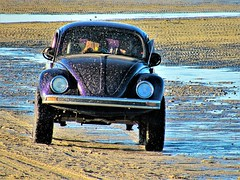 Fast lane (thomasgorman1) Tags: canon shore beach baja mexico tiretracks tracks sand ripples outdoors lowtide mx moving bug vw beetle vwbeetle type1