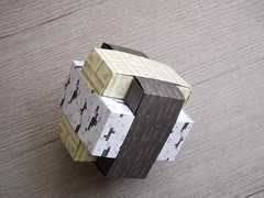 A4 Omicron (ISO_rigami) Tags: modular origami 3d a4 cube polyhedron omicron minecraft paper eckhardhennig