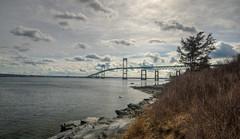 The Claiborne Pell Newport Bridge (ap0013) Tags: claiborne pell newport bridge rhode island claibornepell newportbridge newportri newportrhodeisland water landscape cloud