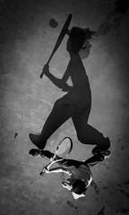 DSC_3747 (靴子) Tags: 黑白 單色 運動 網球 兒童 光影 bw bnw kid sport d850 nikon