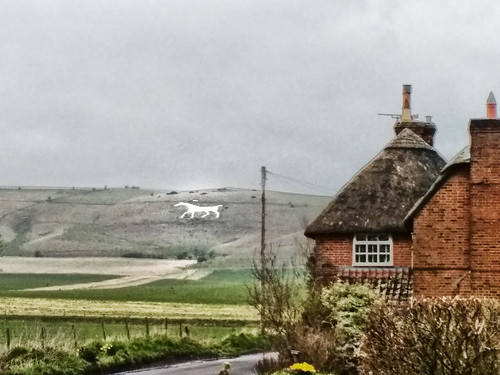 Wiltshire - Alton Barnes - view of the white horse