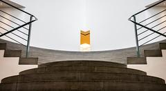 Cyclop Of Light (TablinumCarlson) Tags: europe deutschland germany brd nrw rheinland bonn nordrheinwestfalen nordrhein north rhinewestphalia rhine rhein leica m m240 summicron weichzeichner soft focus light licht white weis kunstmuseum museum axel schultes museumsmeile kunst art säule minimalismus minimalism modern bjss jürgen pleuser 28mm gelb yellow zyklop cyklop kyklop cyclop treppe steps stairs stair stairway stufen symmetrie