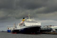 Saga Sapphire in Southampton (Hythe Eye) Tags: sagasapphire southampton southamptonwater docks harbour clouds heavysky rain cruiseship whitchampion glovissuperior solentmill cruiseterminal 101