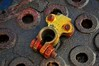 I, Robot. (holly hop) Tags: mm macromondays circles round rust rusty nut bolt steel holes sedge808sfaves wow texture texturaltuesday