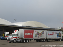 Bi-Mart International Prostar Daycab, Truck# 382 (Michael Cereghino (Avsfan118)) Tags: bimart bi mart international prostar ih daycab double doubles trailer trailers semi trucking