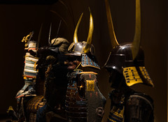 Suits of Samurai Armour (tokyobogue) Tags: tokyo japan shinjuku nikon nikond7100 d7100 sigma sigma1750mmexdcoshsm samurai armour decoration military helmet protection colours