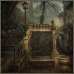 """From the series """"Walks in Portugal""""(Quinta da Regaleira) (odinvadim) Tags: landscape mytravelgram iphoneart textured iphone iphoneography iphoneonly evening painterlymobileart snapseed specialist textures travel frost artist painterly editmaster"""