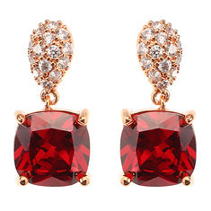 JASSY® Siam Red Gemstone Rose Gold Plated Micro Inlay White Zircon Ear Stud Women Earrings Gift (1176294) #Banggood (SuperDeals.BG) Tags: superdeals banggood jewelry watch jassy® siam red gemstone rose gold plated micro inlay white zircon ear stud women earrings gift 1176294