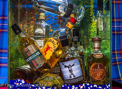 Whiskey Galore. (Tony Brierton) Tags: aquarium stilllife water whiskey bottles
