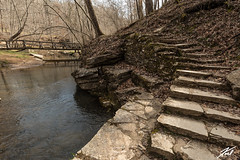 Stairs To The Bridge (kschmitz2) Tags: stone path canoneos5dmk3 water tree river stair state rock carter caves sky kentucky park ef1635mmf28lii olivehill unitedstates us