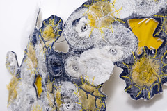 Yellow reef (Mónica Leitão Mota) Tags: mixedmedia reef yellow fibreart wearable sculpted necklaces