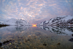 april evening (John A.Hemmingsen) Tags: ersfjordbotn evening landscape seascape fujifilm fjord nordnorge norway arctic mountains snow