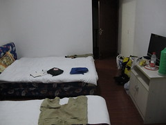 My room in a small town in Shexian near the border (Gavin Anderson) Tags: china cycling tour