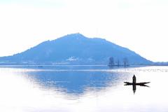 Dal Lake - A Winter Landscape (pallab seth) Tags: dallake lake kashmir srinagar india nature winter cold landscape boat fishermen charchinar charchinari ropalank rupalank vehicle travel boatman fisherman