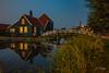 De Zaanse Schans - Zaandam (Frank Foth) Tags: zaandam netherland water windmills refelction night longexposure