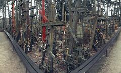 Góra Grabarka - cmentarz (jacekbia) Tags: europa polska poland podlasie grabarka krzyż cross prawosławny orthodox panorama hugin canon 1100d religion religia symbol