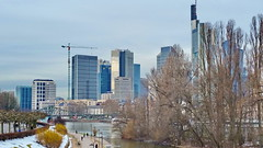 30 - Francfort Mars 2018, la neige fond (paspog) Tags: francfort frankfurt main mars march märz 2018 rivière fleuve fluss river tours towers